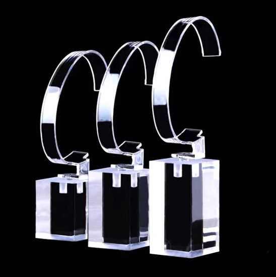 Modern Watch Display Stands High Grade Clear Acrylic Stands