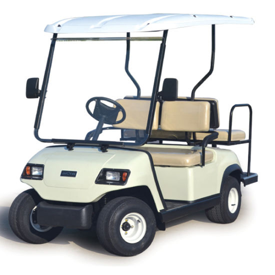 Folded Back Seat Golf Club Car