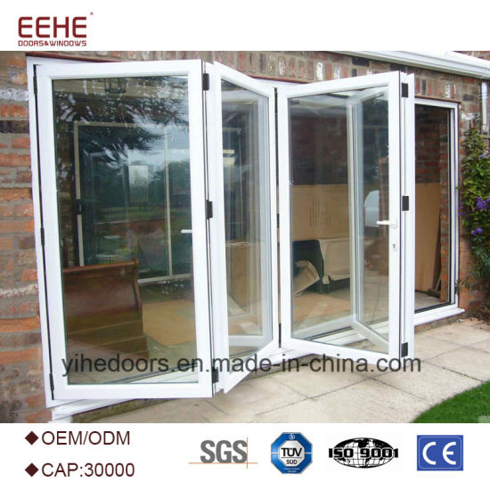 Attractive Resonable Price Folding Glass Door Aluminum Folding Door Glass