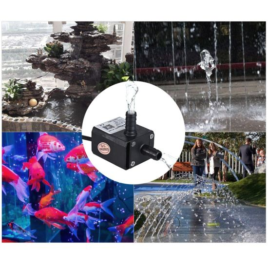 Mini Micro Quiet Motor Submersible Brushless Solar Centrifugal DC Water Pump for Fountain Laser Engraving pictures & photos