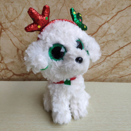 Big Eye Stuffed Animal Plush Toy Sugar Christmas Dog Doll Good Quality Gift Kids