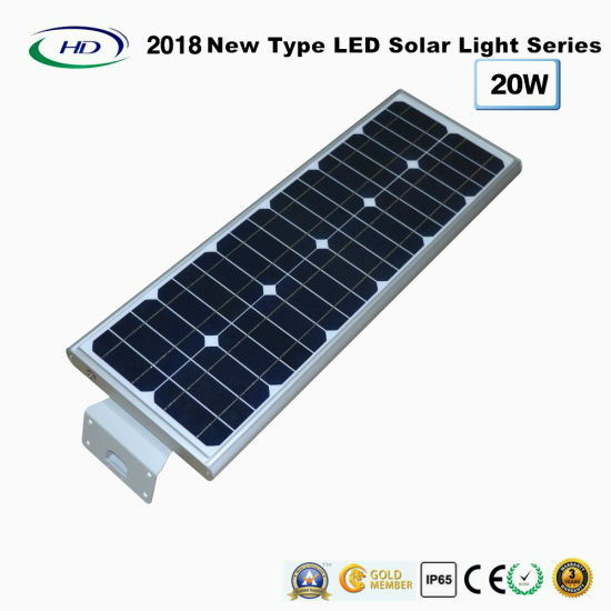 2018 New Type All-in-One Solar LED Garden Light 20W pictures & photos