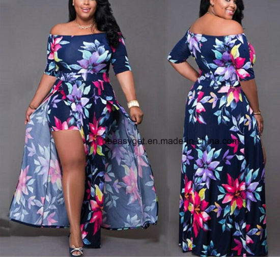ad3d2bef3ede Women Long Maxi Dress, Ladies Floral Print Long Sleeve Boho Long Dress  Esg10278 pictures &