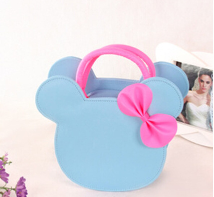 2020 New Kid Children Pink Blue Bowknot Handbags pictures & photos