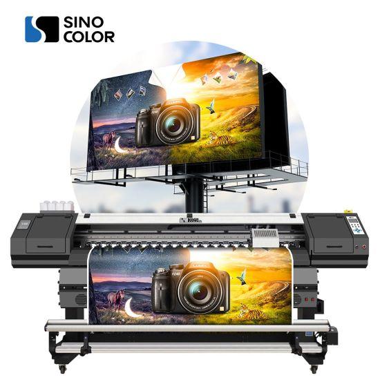 Sinocolor High Speed 1.8m 1800mm 180cm Digital PVC Sticker Printer on Canvas with Dx8 Heads