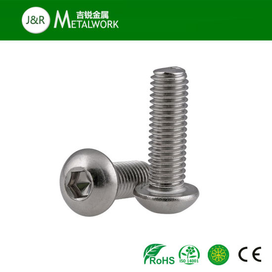 M16 16mm Button Head Screws Allen Socket Bolts Domed Hex A2 Stainless Steel