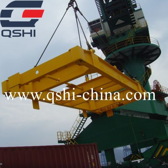 20FT 40FT Semi Automatic Fixed Spreader Beam Mobile Type Container Spreader  Lifting