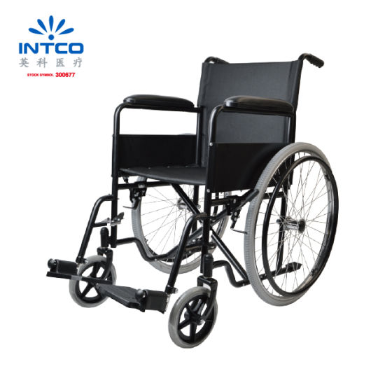Economic High Quality Steel Manual Wheelchair for Elderly People pictures & photos