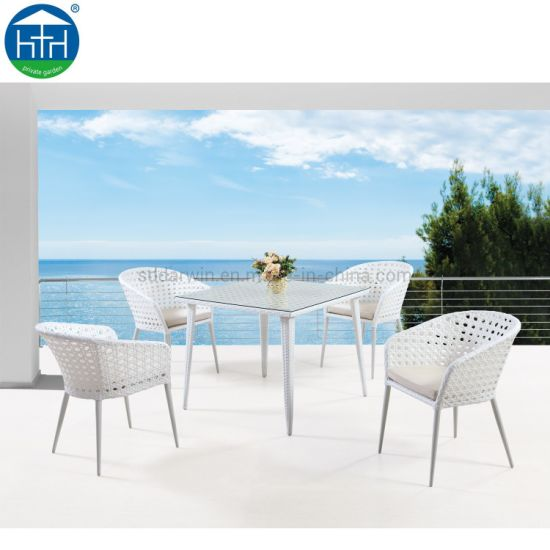 Durable Garden Rattan Table And Chair Wicker Patio Furniture For
