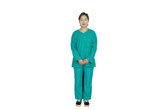 100%Cotton Customerizd Longsleeve V Neck Doctor Nurse Medical Hospital Uniform
