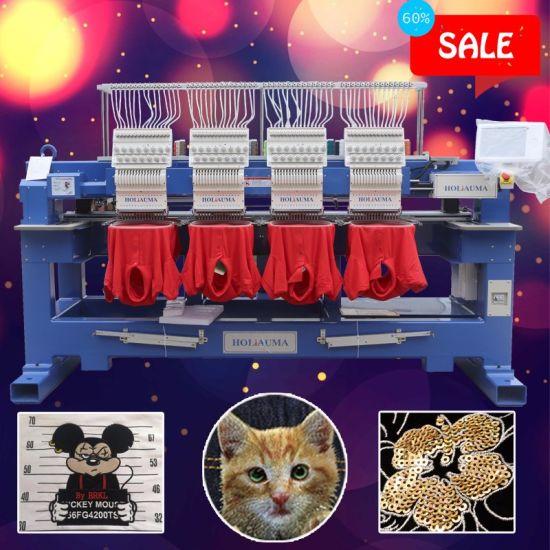 Tajima/Feiya/Swf Type 6 Head Embroidery Machine Cap/Tshirt/Flat/Chain Stitch Computer Embroidery Machine with 10 Year Service