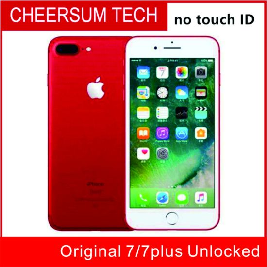 Refurished Cellphone7 100% Original Phone 7/ 7 Plus Ios10 Quad Core 2GB RAM 32GB 128GB 256GB ROM 12.0MP 4G Mobile Phone Without Touch ID