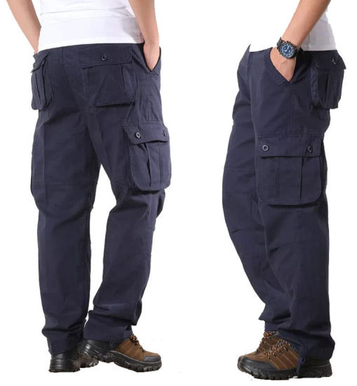 China Manufacturers Wholesale Casual Outdoor Cargo Pants Fashion Men Cotton Work Wear Trousers pictures & photos
