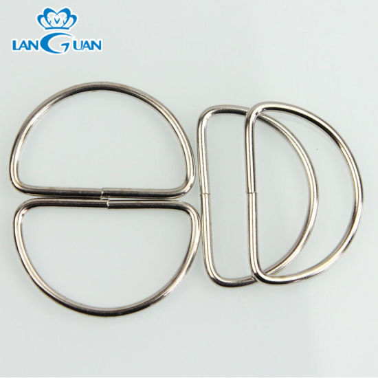 OEM Garment Metal Wire Buckle D Ring Accessories for Bags