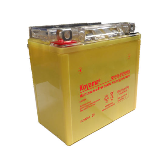 Koyama 12V 9ah Maintenance-Free Sealed Motorcycle Battery 12n9-BS-Mf pictures & photos