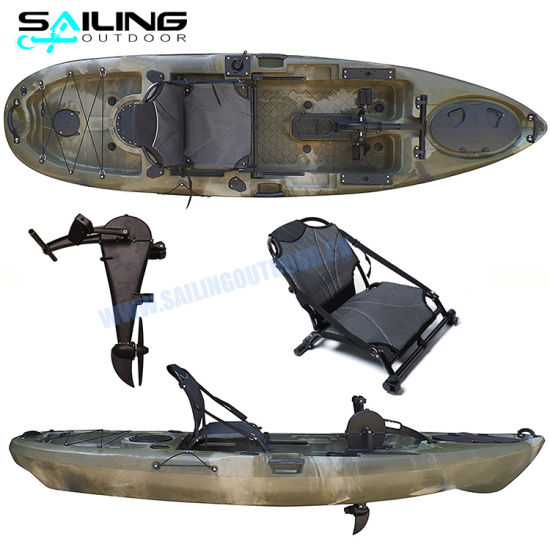 Sailing Outdoor 10FT Kayak with Pedals Fishing Water Pedal Drive Sea Bike Boats for Sale