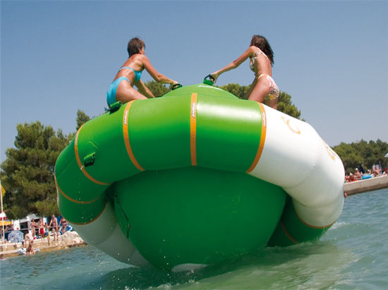 Inflatable Water Saturn Inflatable Floating Water Toys Water Gyroscope Game