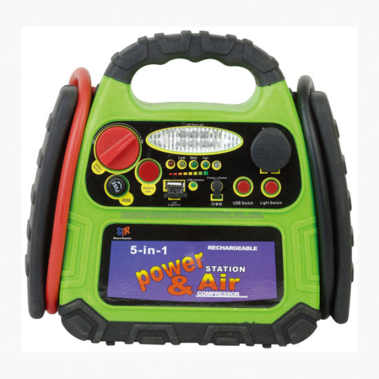 5-in-1 Jump Starter with LED Lights