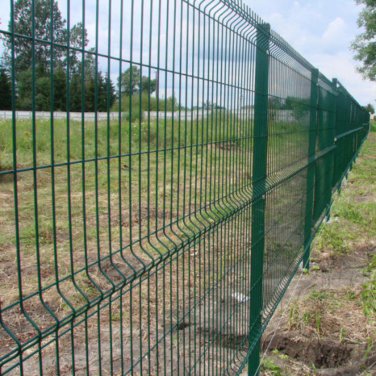 Wholesale PVC or Powder Coated Green Color Mesh Security Perimeter Fence