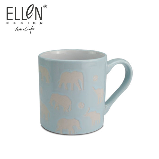 Stoneware Custom Ceramic Mug with Animal Decal Design