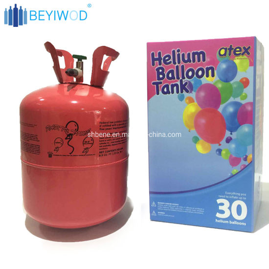 China 30lb 50lb Small Helium Balloon Tank Filled Pure Helium