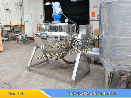 600liter Steam Cooler for Tomato Sauce (jacketed cooking kettle) pictures & photos