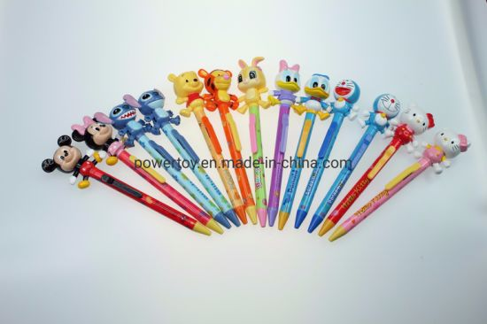 Jl Kawaii Writing Stationery Custom Plastic Ball Pen with Cute Designed Clip