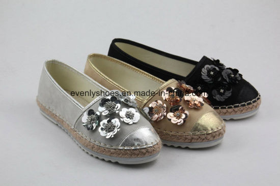 Flower Decoration Fashion Flat Lady Ballerina Shoes pictures & photos