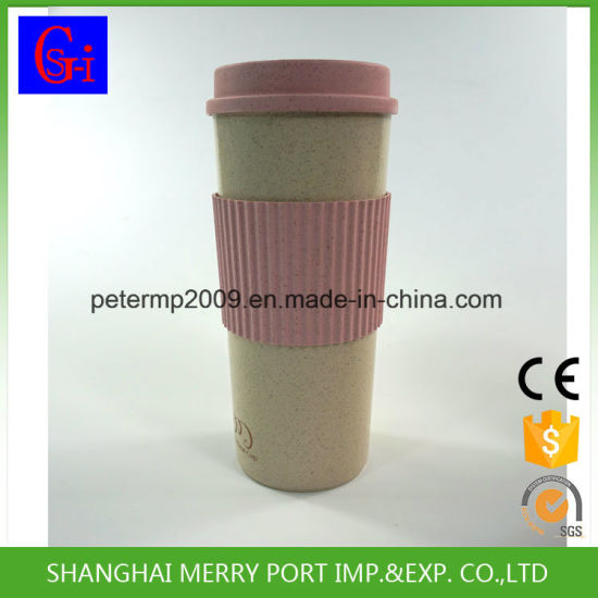 600ml 21oz Hot Sale Wheat Fiber Water Cup, Plastic Mug