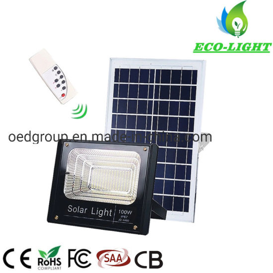 IP67 Outdoor 100W LED SMD Solar Flood Light