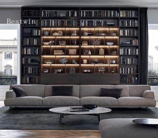 Italian Design Leather & Fabric Sofa with Light Luxury Appearance