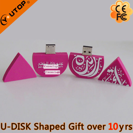Personalized Purplish-Red Waterdrops Gift USB Pendrive (YT-6660) pictures & photos