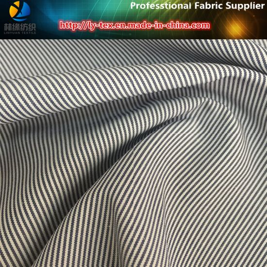 2017 Hot Polyester/Cotton Yarn Dyed Stripe Fabric for Women Casual Shirt pictures & photos