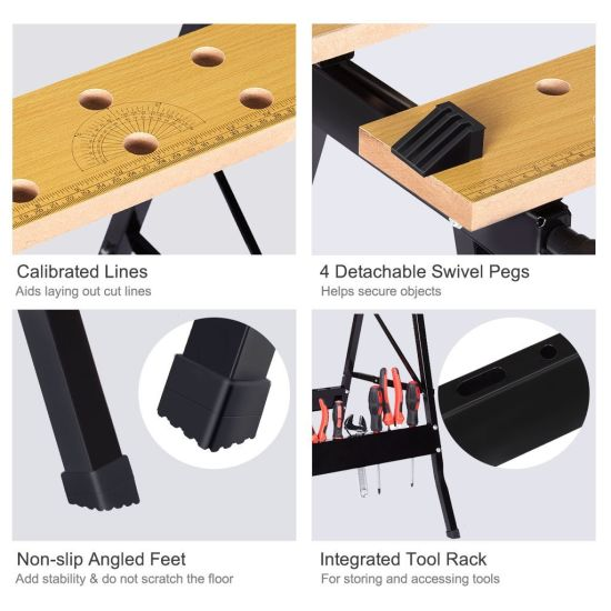 Pleasant China Multi Purpose Folding Workbench And Vice Portable Work Short Links Chair Design For Home Short Linksinfo