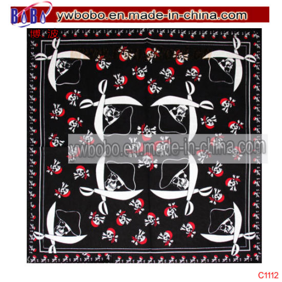 Cotton Bandana Headwear Wrist Wrap Headtie Printed Scarf (C1112) pictures & photos
