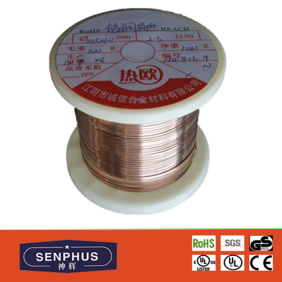 Copper Nickel Alloy Resistance Heating Wire (NC003/NC005/NC010/NC012/MC012/NC020/NC030/NC040/NC050) pictures & photos