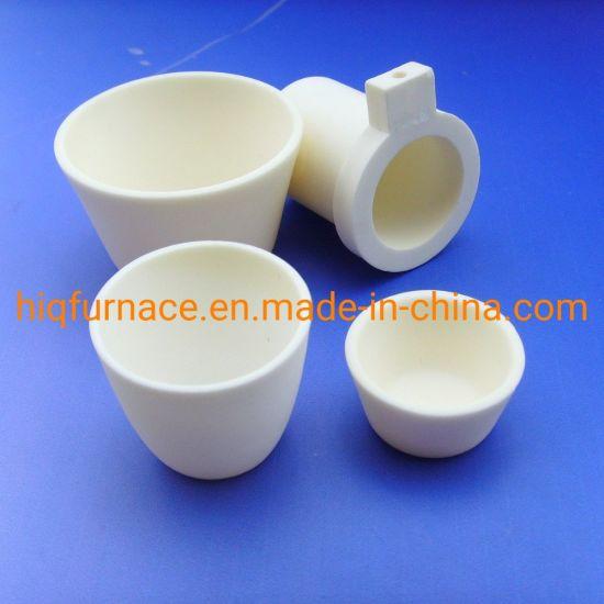 High Purity Alumina/Zirconia Ceramic Tubes/Crucibles/ Boats, High Purity Cylindrical Al2O3 Ceramic Corundum Alumina Crucible for Metal Melting in Laboratory