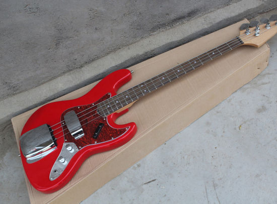 4 Strings Red Deluxe Jazz Bass Alder Body Jazz Electric Bass Ksg Bass with  Pickup Covers