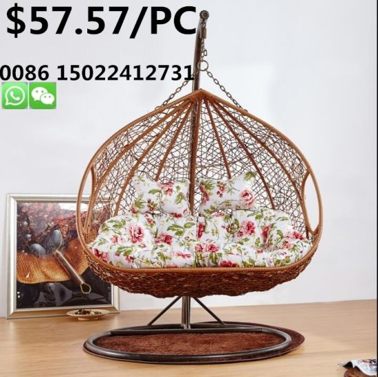 Tremendous Steel Frame Hanging Rattan Cane Basket Chair Leisure Garden Hang Lounge Double Swing Rocking Chair Squirreltailoven Fun Painted Chair Ideas Images Squirreltailovenorg