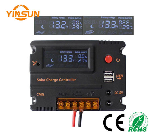 12V/24V 20A LCD Solar Panel Battery Regulator Charge Controller pictures & photos