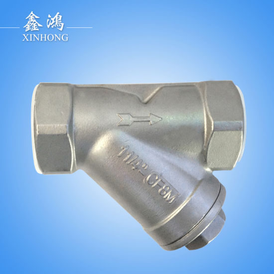 304 Stainless Steel Thread Y-Type Strainer Dn40 1-1/2′′ pictures & photos