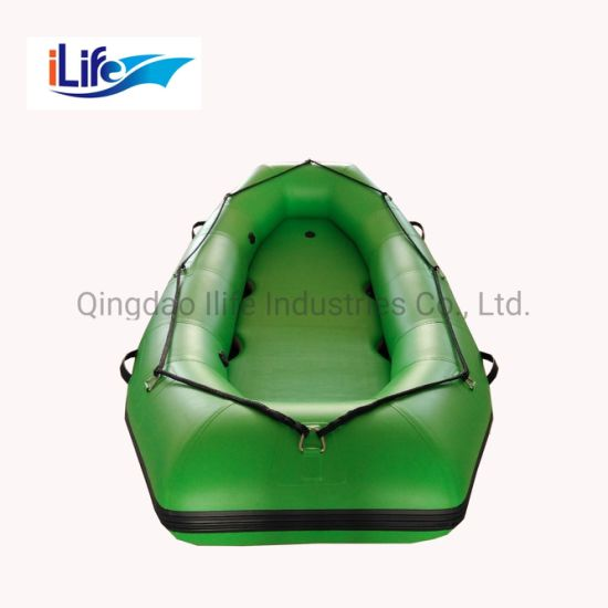 Ilife Inflatable Floating Raft PVC/Hypalon Inflatable White Water Raft Boat Fishing Whitewater River I-Beam Floor Self Bailing Paddle Rafting