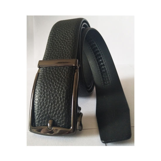 Men's Automatic Buckle Recreational Black PU Leather Cheap Belts