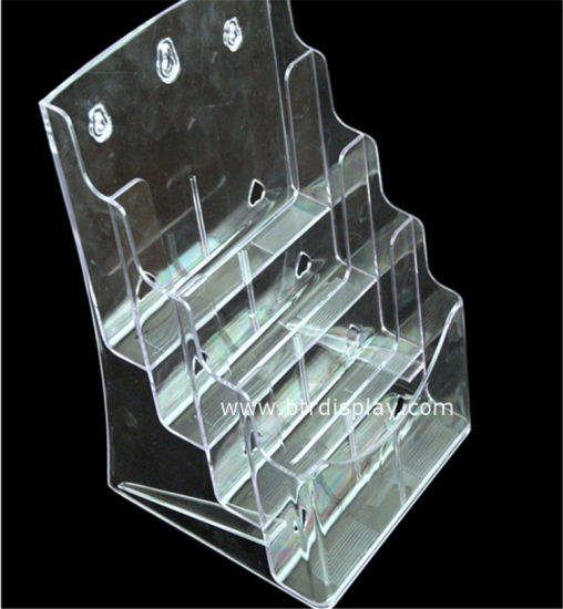 Clear Acrylic A4 4 Tires Brochure Stand Manufacturer Btr-H6304-4