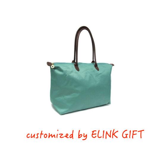 Customized Logo and Size Nylon Tote Bag Shoulder Bag Shopping Bag for Women