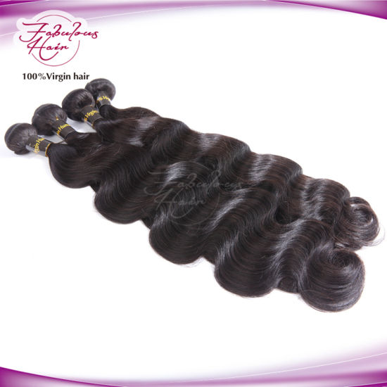 Fashion 100% Human Hair Body Wavy Brazilian Hair Extension pictures & photos