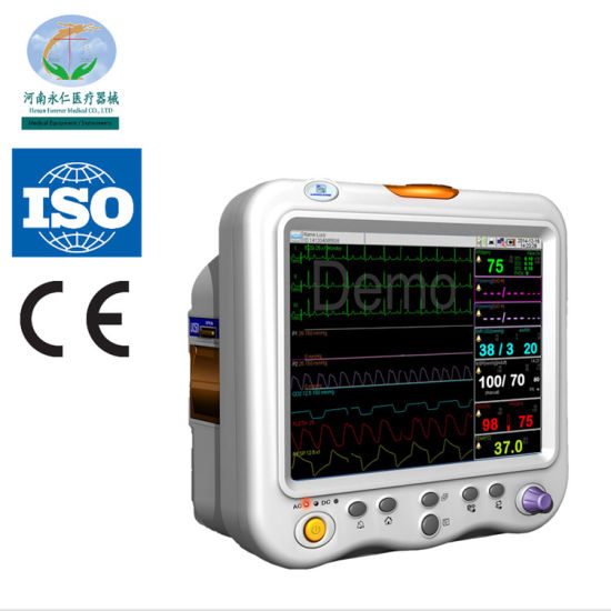 F15 Portable Multi-Parameter Patient Monitor Machine (15 inches)