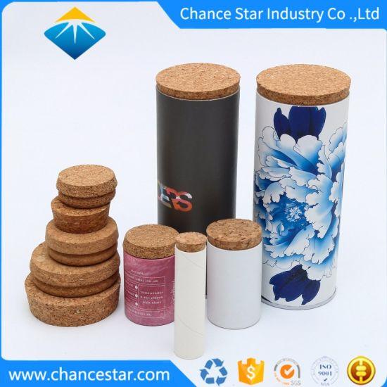 Custom Hard Round Cardboard Rigid Box with Cork Lid