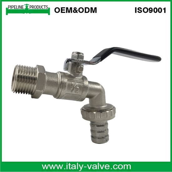 Lower Price Nickel Plated PTFE Seal Brass Bibcock Tap