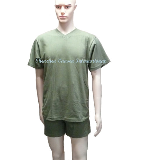 Green T-Shirt/Boxer for Men/Short Underwear Set (V3007) pictures & photos